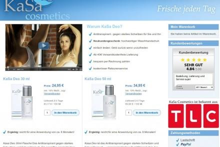 Online-Shop für Antitranspirant
